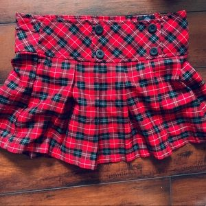 Nevada Plaid Skirt red